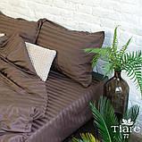 Комплект постельного белья страйп сатин Тиара евро размер 77, фото 2