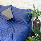 Комплект постельного белья страйп сатин Тиара евро размер 78, фото 2