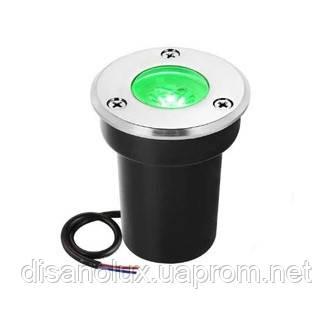 Світильник ґрунтовий QR-01 LED COB 5W green 230V IP65 65мм * 75мм