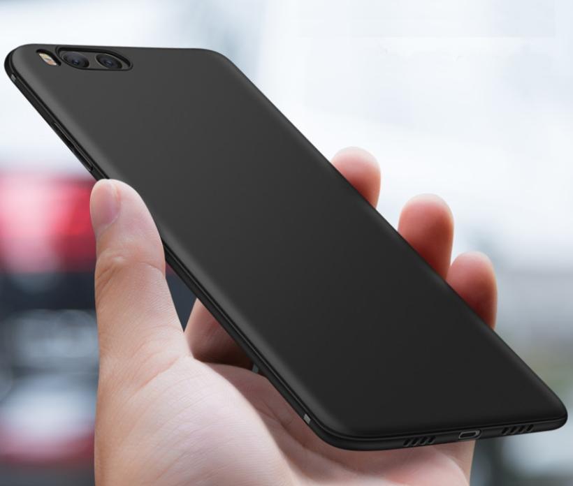 Бампер чехол софт тач матовый Xiaomi Mi 6 Цвет чёрный силиконовый не скользит