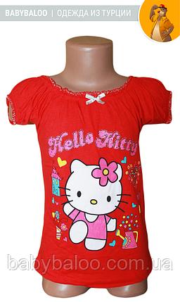 """Футболка стильна дитяча ліхтарик """"Hello kitty""""(від 4 до 8 років), фото 2"""