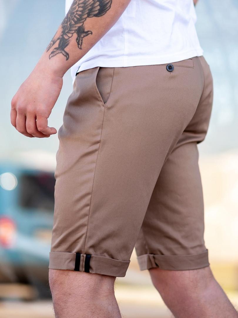 Мужские брюки BEZET Classic brown '19, коричневые мужские классические шорты, коричневые шорты-брюки