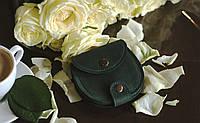 Мини кошелек натуральная кожа винтажная кожа Boorbon 107 подарок ручная работа изделие из кожи для денег