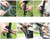 Компактный кодовый складной замок и прочных стальных пластин для велосипеда ETOOK