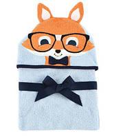 Дитячий махровий рушник з капюшоном Лис Hudson Baby