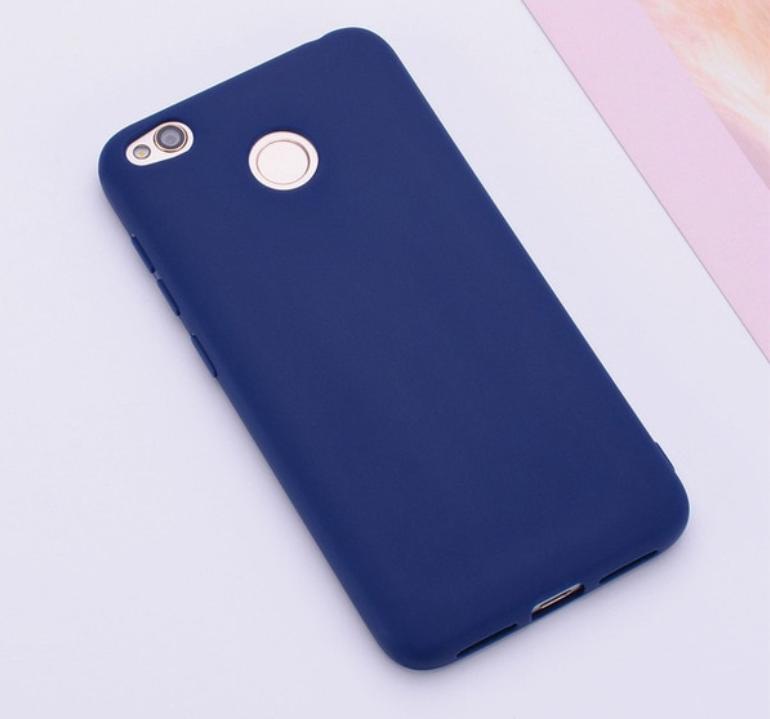 Бампер чехол софт тач матовый Синий Xiaomi Redmi 4X