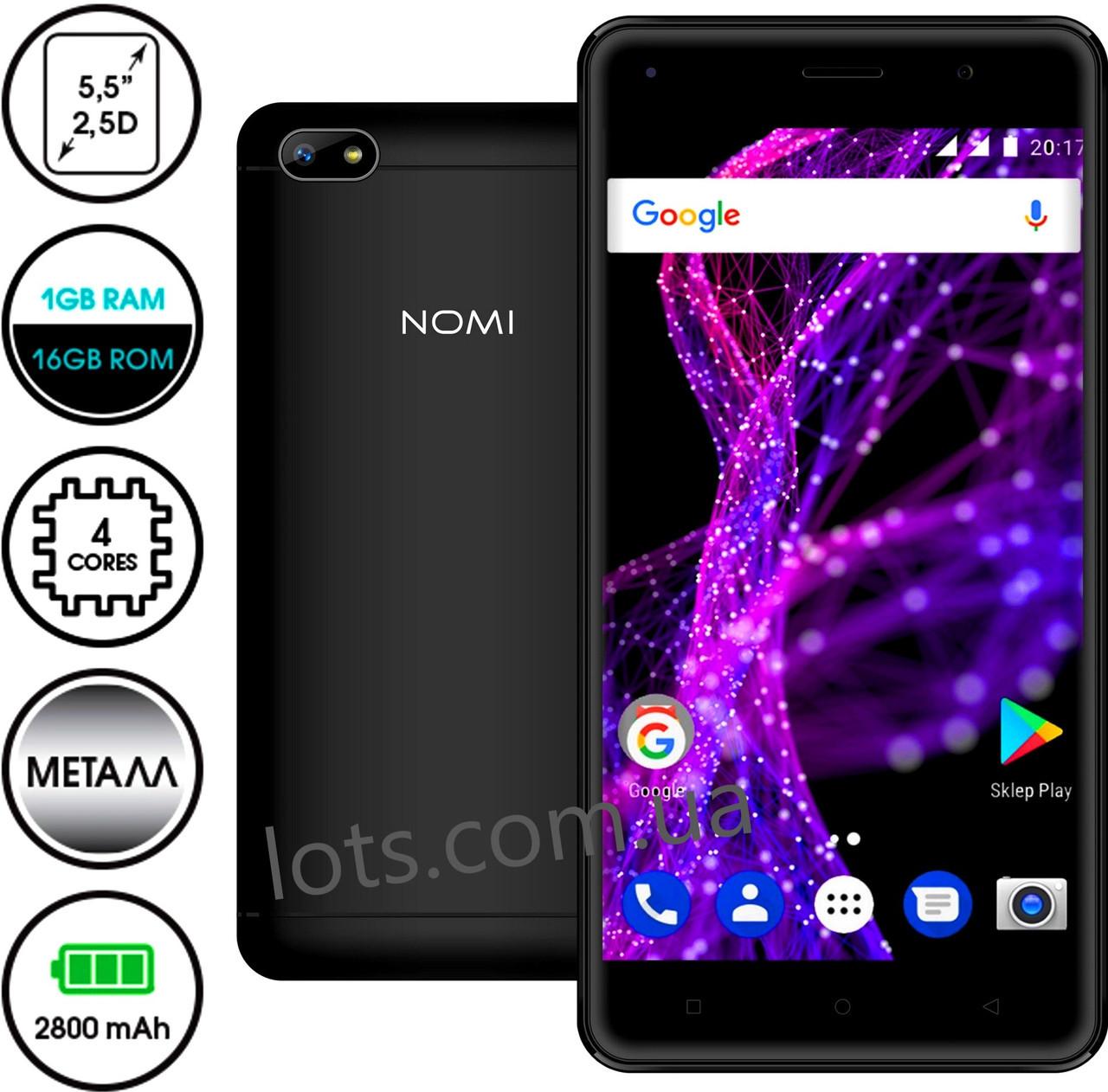 Смартфон Nomi i5511 Space M1 16Gb (Black)