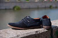 Мужские туфли замшевые туфли из натуральной замши