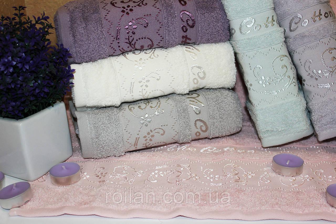 Банные турецкие полотенца Завиточки Vip Cotton