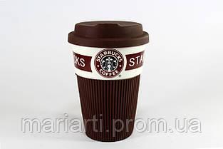 StarBucks керамический стакан с селиконовой крышкой и чехлом., фото 2