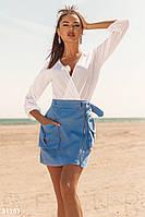 Денимовая юбка-мини до 2хл. Бесплатная доставка