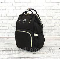 Сумка-рюкзак для мам LeQueen. Черный, Новинка