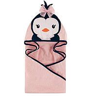 Дитячий рушник з капюшоном Пінгвін Hudson Baby.