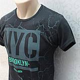 Футболка  мужская / молодежная, Турция. Модная молодежная футболка из коттона., фото 2