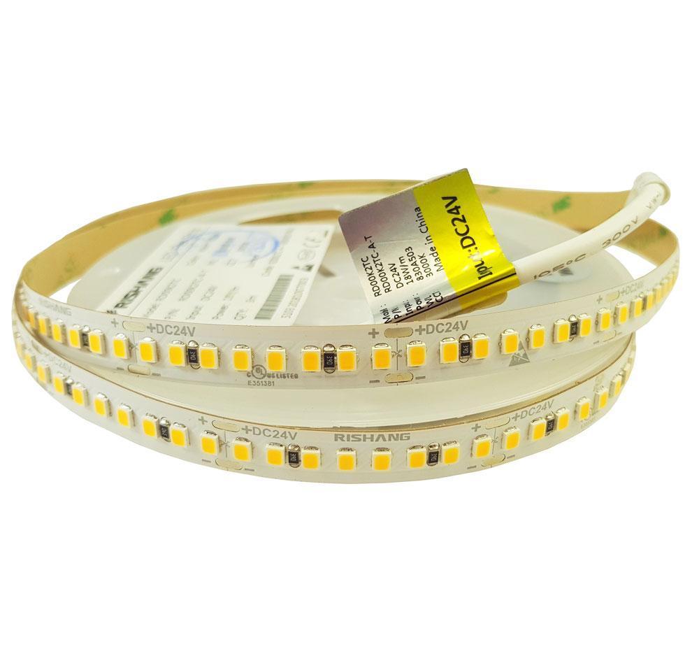 Світлодіодна лента  3000K CRI80 18Вт 24вольт біла тепло RD00K2TC-A 2835-192-IP20-WW-10-24 Рішанг11051