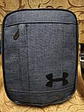 (24*19-велика)Барсеткаvans сумка UNDER ARMOUR спортивні месенджер для через плече Унісекс ОПТ, фото 2