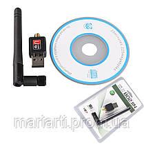 Качество! Скоростной USB WIFI 150M 802.11n мини Wi-fi адаптер с антенной, Акция, фото 3