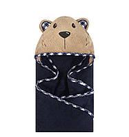 Дитячий махровий рушник з капюшоном Мишко Hudson Baby