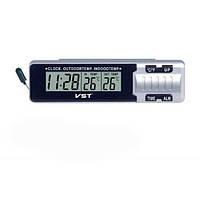 Автомобільні годинник з термометром VST 7065 Silver (2_000677)