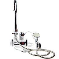 Проточный водонагреватель с душем и дисплеем ATWFS R-10 Боковое подключение 3000 Вт (2_004666)