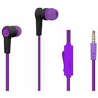 Наушники гарнитура Walker H330 + mic Violet