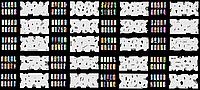 Набор трафаретов 20 шт. для nail art №7, фото 1