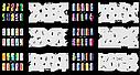 Набор трафаретов 20 шт. для nail art №7, фото 4