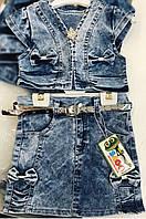 Комплект джинсовый для девочки. 2,3,4 года