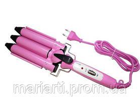 Профессиональная тройная плойка для волос Junjun Electrical JJ-928, Качество, фото 2