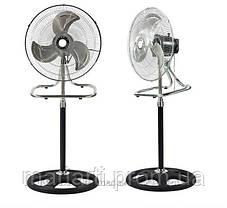 Вентилятор металлический, очень мощный, 3 в 1: напольный, настольный, настенный FS-4521, бытовой вентилятор, фото 2