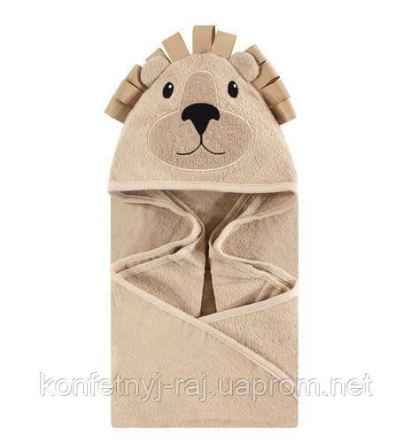 Полотенце уголок для новорожденного Лев Hudson Baby