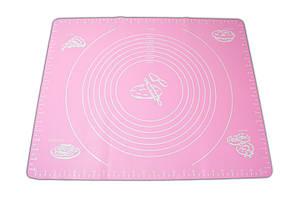 ✅ Килимок силіконовий, 40x50 см, колір – Рожевий, килимок для розкочування тіста