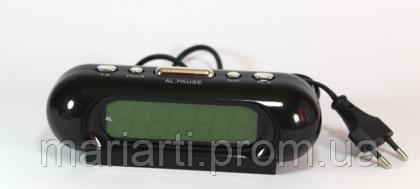 Настольные электронные часы CX 818 yellow green, будильник, фото 2