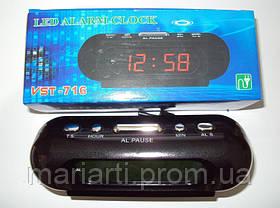 Настольные электронные часы CX 818 yellow green, будильник, фото 3