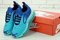 Кроссовки Nike Air Max 720 реплика ААА+ размер 36-45 бирюзовый (живые фото), фото 1