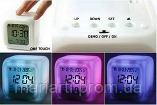 Часы хамелеон с термометром будильник ночник.., Качество, фото 2