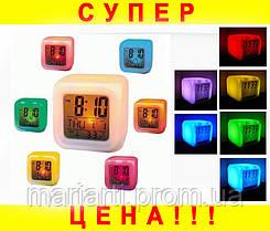 Часы хамелеон с термометром будильник ночник.., Качество, фото 3