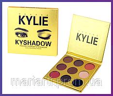 "Тени для век Кайли Дженнер ""Бронзовая Палитра""   Kylie Jenner The Bronze Palette   9 цветов, Качество"