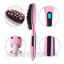 Качество! Расческа выпрямитель FAST HAIR с Led дисплеем! Расчёска для выпрямления волос!, фото 3