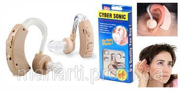 Слуховой аппарат Cyber Sonic+ Батарейки + Чехол! Качество!, фото 3
