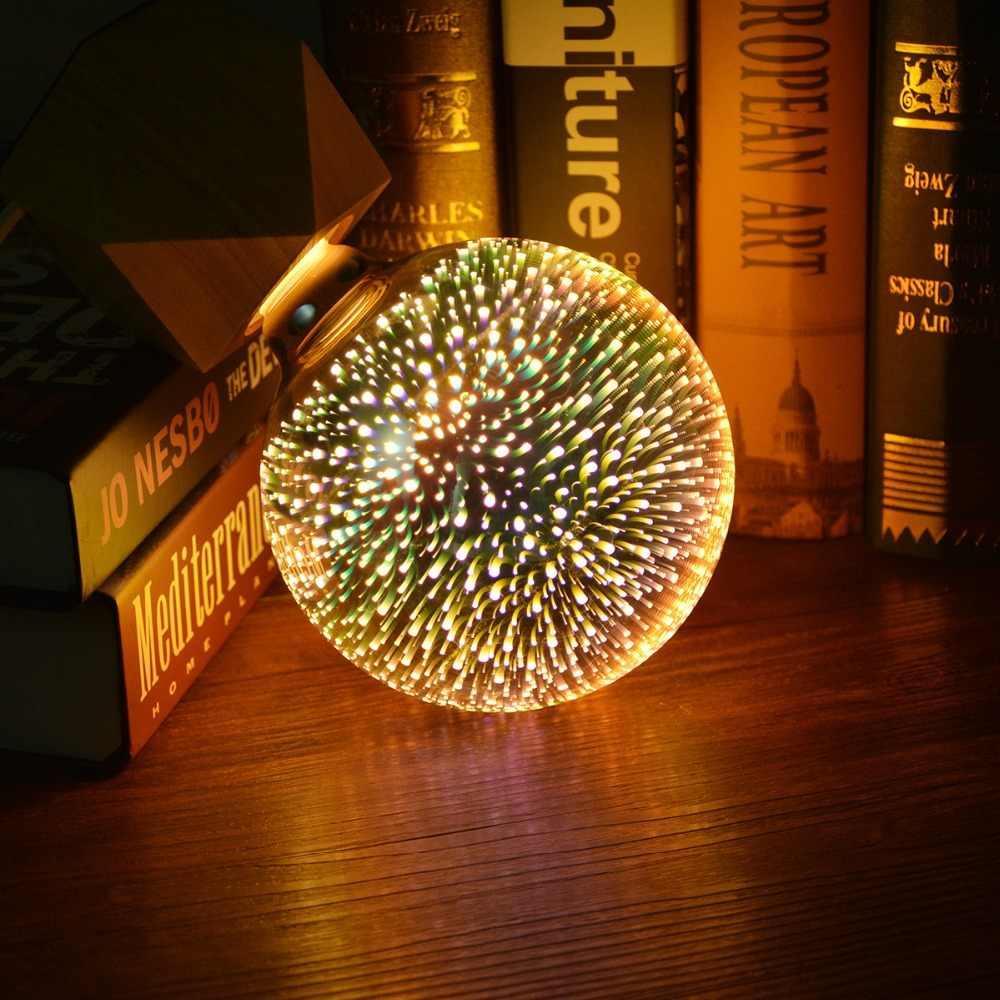 Лампа светодиодная декоративная 3D Фейерверк G125 E27 LED ночник