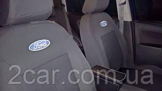 Чехлы в салон модельные Ford Connect (1+1) без столиков c 2002-13 г (EMC-Elegant)