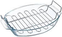 Форма для выпечки с решеткой Pyrex Irresistible 39х27х7см, жаропрочное стекло