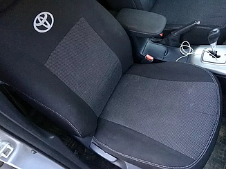 Чехлы в салон для Toyot Corolla с 2013 г (модельные) (EMC-Elegant)