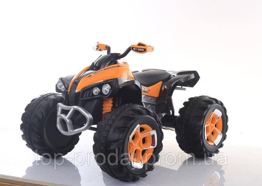 Эл-мобиль T-739 ORANGE квадроцикл 12V7AH мотор 2*25W с MP3, Электроквадроцикл для детей от 3х лет