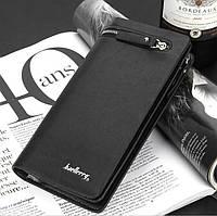 Мужской Кошелек (Портмоне, клатч) Baellery S6183 (black, brown)
