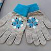 """Теплая шапка """"Эльза"""" с перчатками для девочки. 50-55 см, фото 3"""