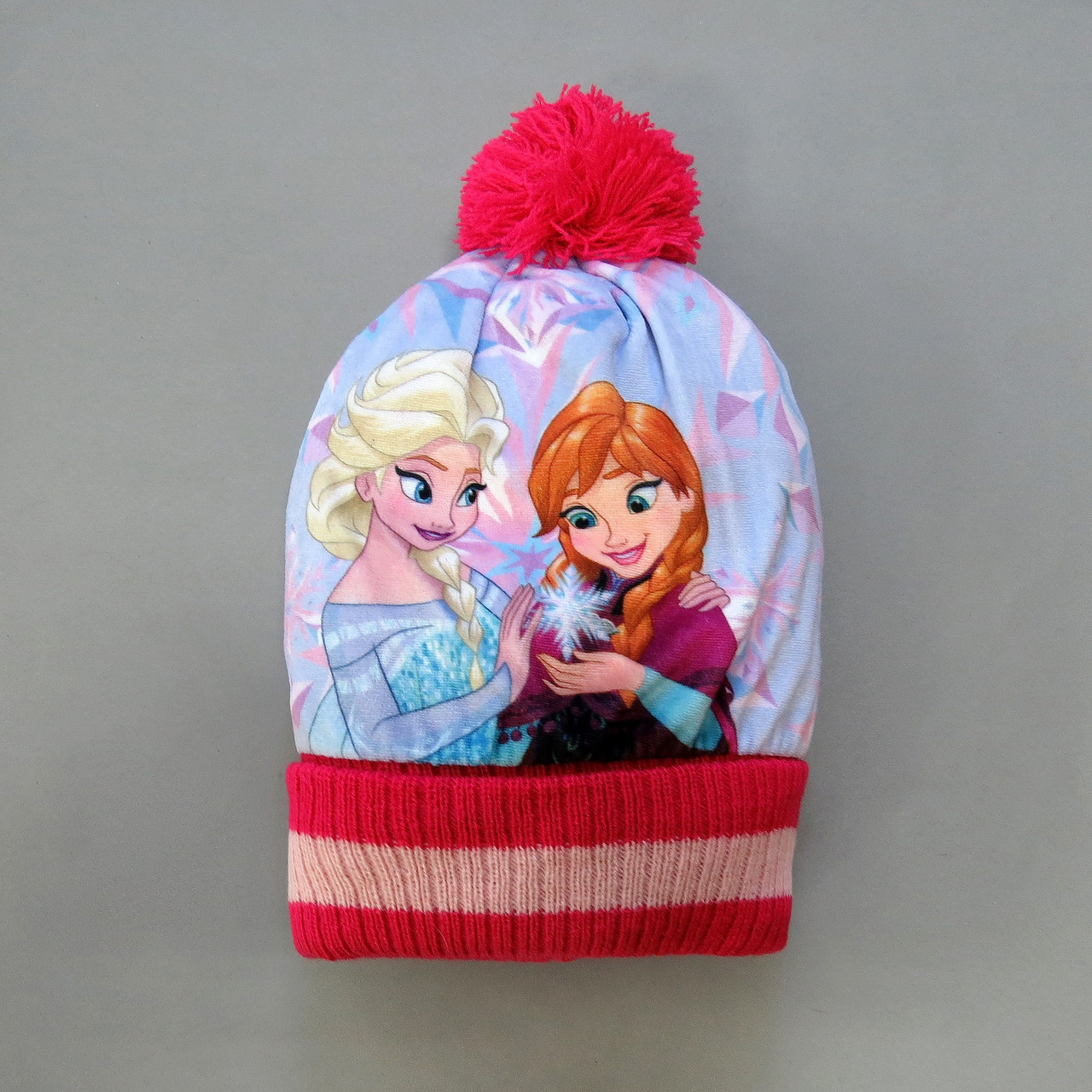 """Велюровая шапка """"Эльза и Анна"""" для девочки. 46-50 см"""