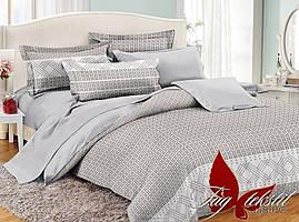 Полуторный комплект постельного белья из поплин с компаньоном PC058