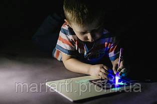 "Набор для рисования в темноте ""Рисуй светом"" A3 + ручка, Новинка, фото 2"